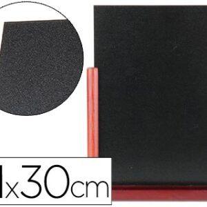 pizarra negra, doble cara, 21x30