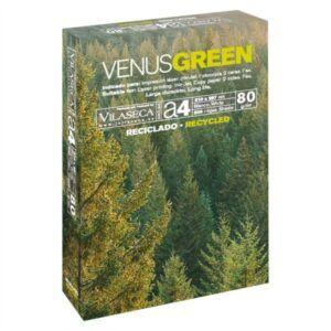 Papel reciclado A4 Venus Green, 80 grs. 500 h.