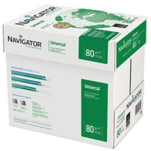 6 cajas de PAPEL NAVIGATOR UNIVERSAL 80 grs. A4 500 h.