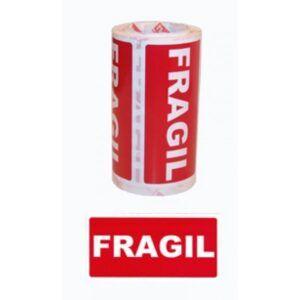 Etiquetas FRAGIL rollo de 200 unidades