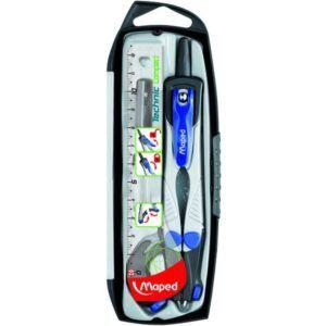 Compas MAPED Technic Estuche 4 piezas:1 compas,1 abrazadera,1 af