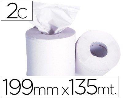 6 bobinas de papel secamanos 2 capas 199 mm x 135 mt -