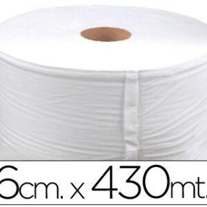 2 Bobinas celulosa industrial 26 cms de ancho x 400 mts aprox diametro 33,5 cm