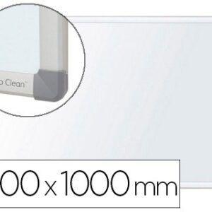 Pizarra blanca NOBO Nano clean magnetica, acero marco aluminio 100 x 150 cm