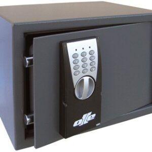 Caja fuerte olle sobrepone 100e combinacion electronica con llave de emergencia 250x350x265 mm.
