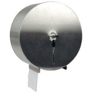 Diispensador de papel higiénico Jumbo acero inoxidable 115x254x265 mm