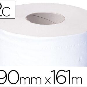 Papel higiénico jumbo 2/c blanco-mandril de 62,5 mm -para dispensador 75183