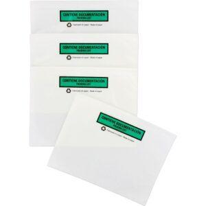 Sobre contiene documentación ECO, impreso 180 x 140 mm Caja de 250 uds.