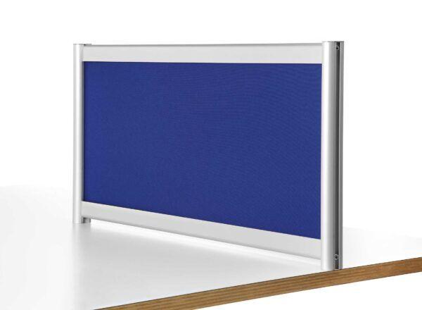Separador de sobremesa acústico tapizado con tela. 40x140