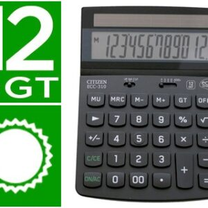 Calculadora citizen sobremesa eco ecc-310 12 digitos.