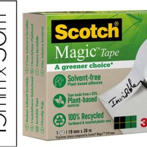 Cinta adhesiva scotch-magic, eco, c-900 30 mt x 19 mm