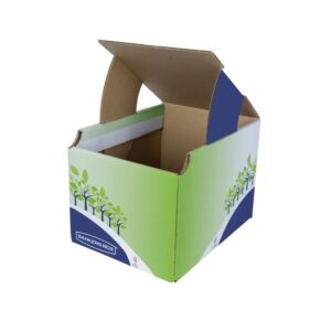 Contenedor papelera reciclaje Fellowes sobremesa cartón 100% reciclado.