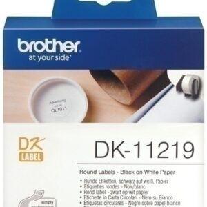 Etiquetas BROTHER continua, papel blanco 12 mm. 1200 unidades (DK11219)