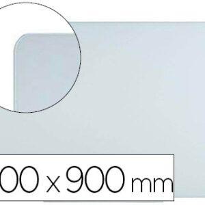 Pizarra blanca Bi-Office cristal magnética 120 x 90 cm