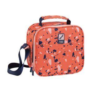 Bolsa isotérmica porta alimentos con recipientes Terrazzo II, naranja
