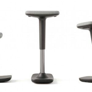 Taburete modelo LEO, gris