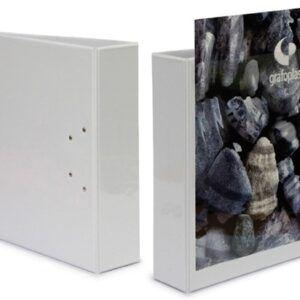 Carpeta canguro Premiere blanca, 4 anillas, A4, lomo 65mm